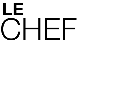 Le chef Jacques Bovier